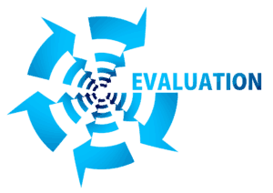 This is a graphic showing a program evaluation cycle.