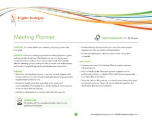 This image describes the importance and process of a business meeting planner.