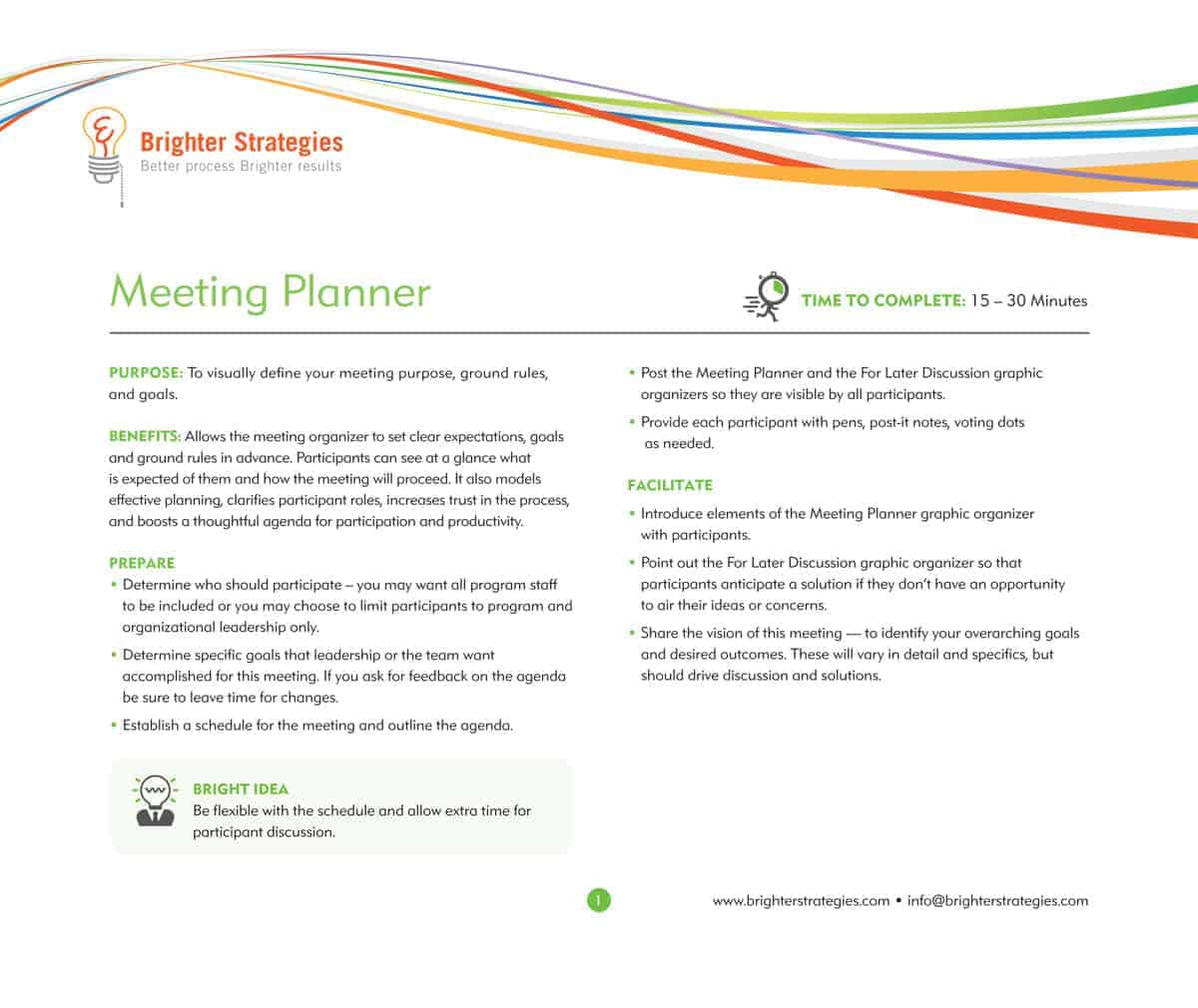 Meeting Planner eBook