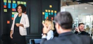 A leadership training session.