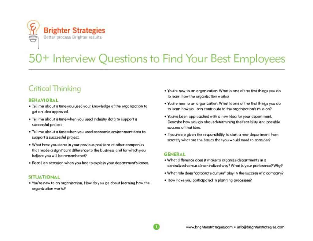 50+ Interview Questions to Find Your Best Employees ebook