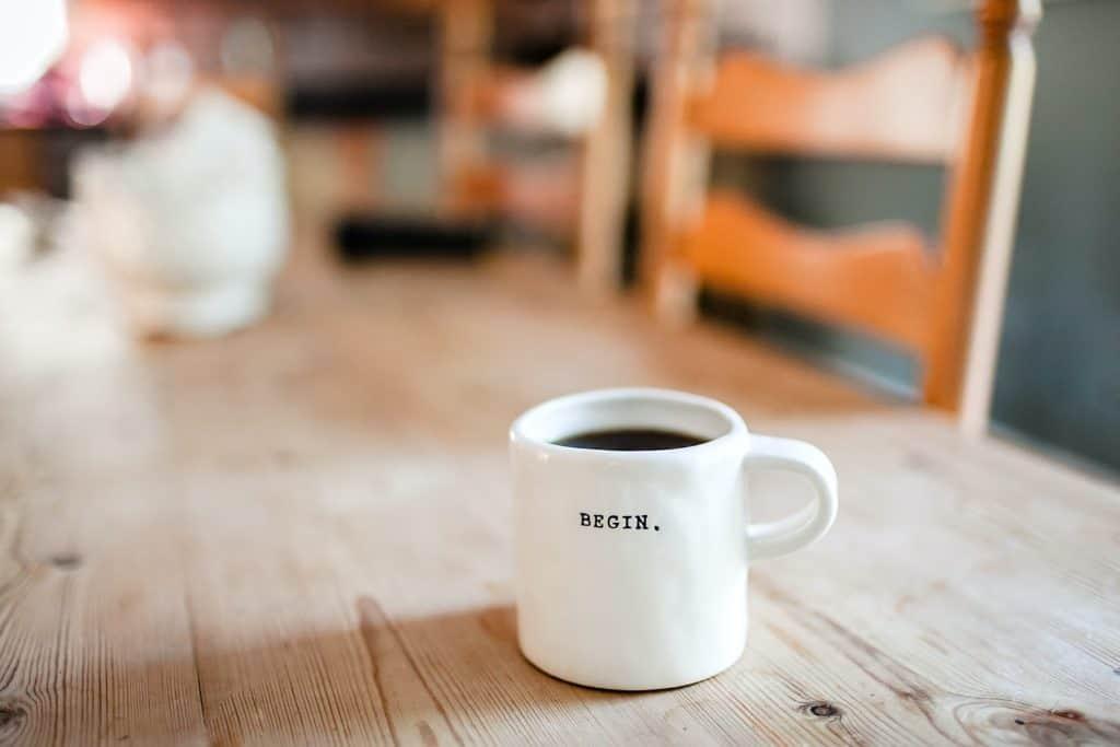 coffee mug with saying
