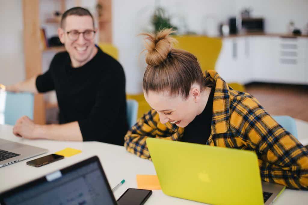 employees enjoying work